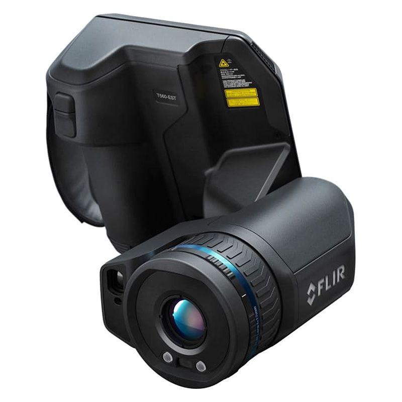 A FLIR T560 Thermal Camera facing forwards.