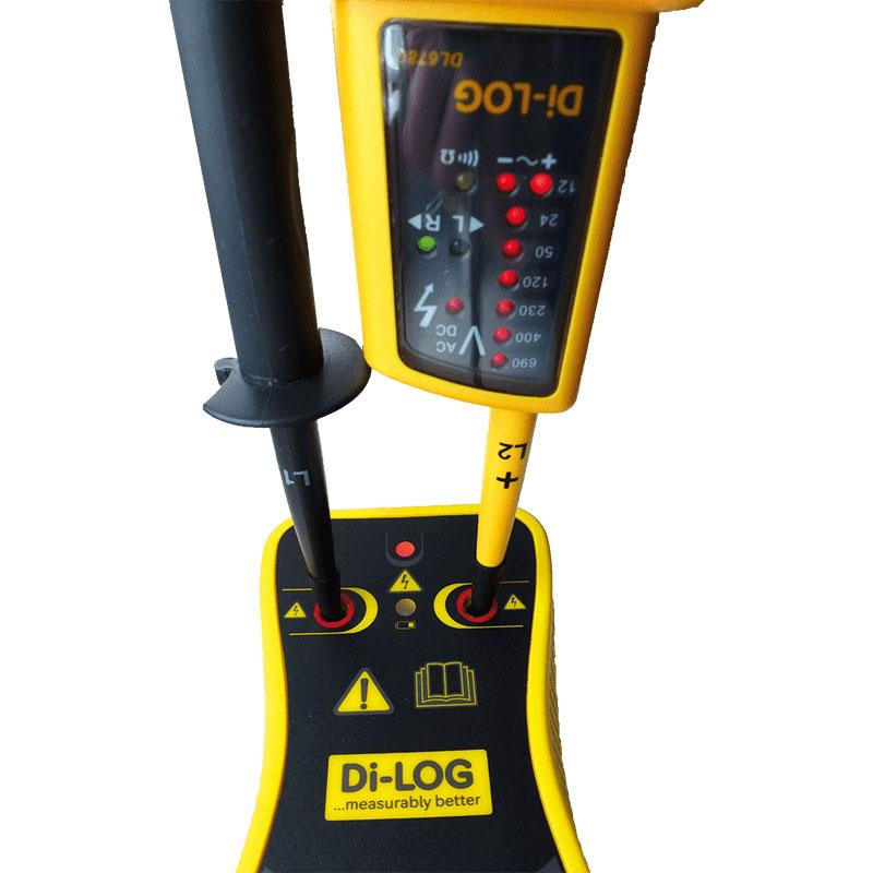 The Di-log DLPK6780 CombiVolt 1 being proved using the Di-log PU690V Proving Unit.