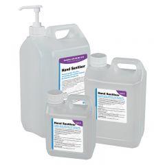Hand Sanitiser (BS EN 1276) – 1/2.5/5 Litre Options