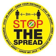 'Stop the Spread' Floor Sticker (300mm x 300mm)