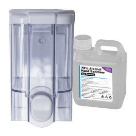 500ml JET Transparent Refillable Hand Sanitiser Dispenser