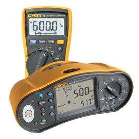 Fluke 1664 FC UK Multifunction Installation Tester with Free Fluke 115 Digital Multimeter and Free DMS COMPL/PROF Software - side view