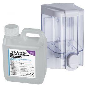 Soap Dispenser & 5L WHO Formula 70% Alcohol Gel Hand Sanitiser – 500ml/ 1000ml Options