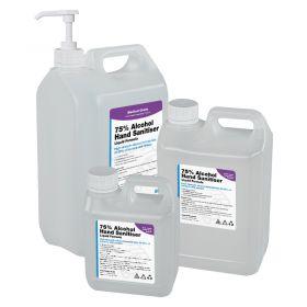 1,2.5 & 5L 75% Alcohol Liquid Hand Sanitiser (WHO Formula) w/ Pump & Dispenser Options