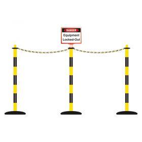 Lockout Barricading System 3 Pole