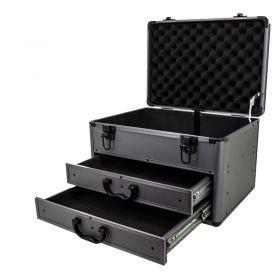Heavy-Duty Aluminium Storage Tool Box with Sliding Drawers