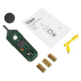 Extech EN300 Hygro Thermo Anemometer Light Sound Meter kit
