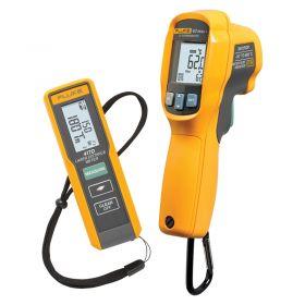 Fluke 62 MAX+ IR Thermometer & 417D Laser Distance Measurer Combo Kit