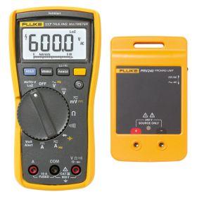 Fluke 117 Digital Multimeter & PRV240 Proving Unit Kit