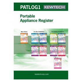 Kewtech PATLOG 1 PAT Testing Log Book