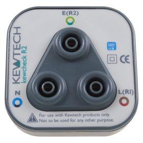 Kewtech Kewcheck R2 Mains Tester Socket Adaptor - Front