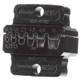 Klauke AE501 Die Set for EK50ML for Bootlace Ferrules, 0.14 - 10mm²