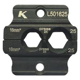 Klauke L501625 Die Set for EK50ML for L Series Cu Tube Connectors 16 - 25mm²