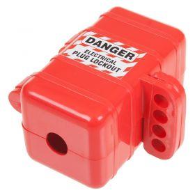 Small Electrical Plug Lockout Box Single plug - Front angled