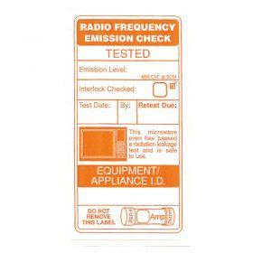 Microwave Leakage Radiation Label