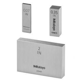 """Mitutoyo Individual Steel Gauge Block, BS, Grade 1 Steel: .05-4"""" (Imperial)"""