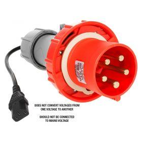 PAT Testing Adaptor - 5 Pin, 63A 415V Plug