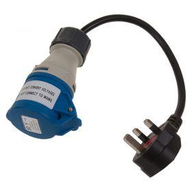 240V Plug To 240V 16Amp 3 Pin Socket