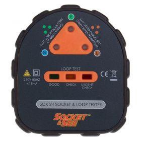 Socket & See SOK 34 Easy Socket and Earth Loop Tester - Front