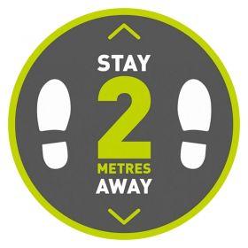 'Stay 2m Away' Floor Sticker (300mm x 300mm)