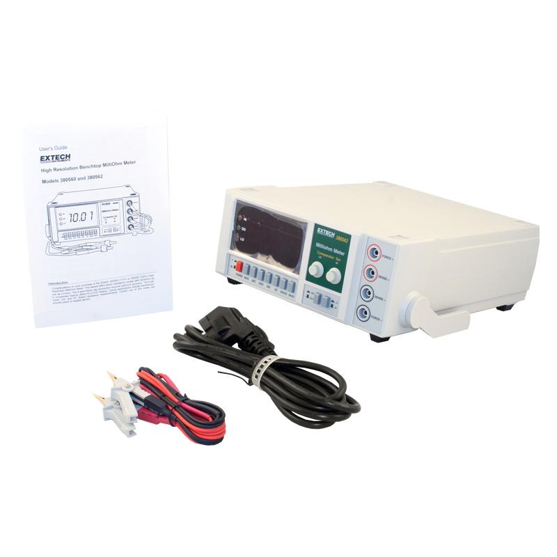Extech 380562 High Resolution 220VAC Precision Milliohm Meter