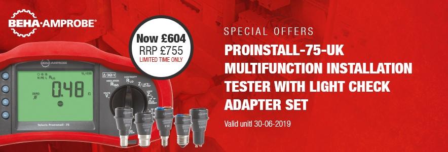 Amprobe ProInstall-75-UK MFT & Light Adapters Kit
