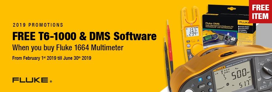 Fluke 1664FC Multifunction Tester & FREE T6-1000 Tester & DMS Software