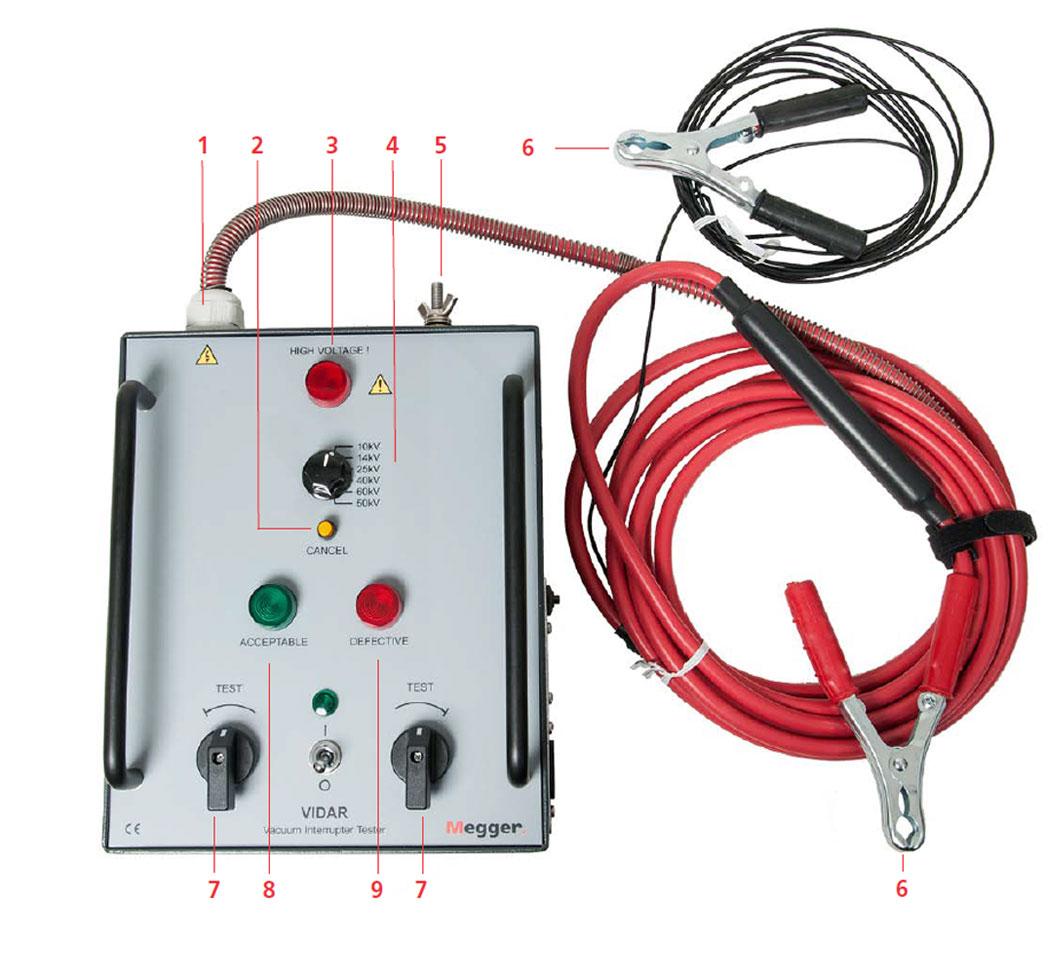 High Voltage Tester For Cable : Megger vidar vacuum interrupter tester