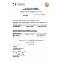 Testo 549i High-Pressure Gauge Smart Probe - Declaration of Conformity