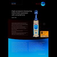 Testo 549i High-Pressure Gauge Smart Probe - Datasheet