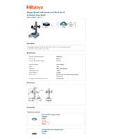 Mitutoyo Series 7 Dial Gauge Stand (7002-10) - Datasheet