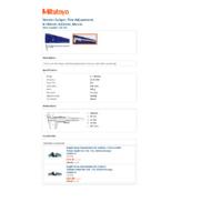 Mitutoyo Series 532 Vernier Thumbwheel Caliper (532-102) - Datasheet