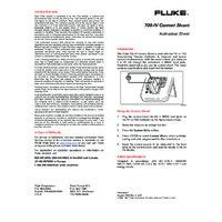 Fluke 700-IV Current Shunt - Datasheet