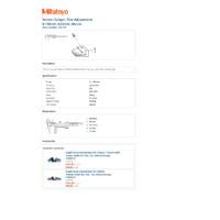 Mitutoyo Series 532 Vernier Thumbwheel Caliper (532-101) - Datasheet