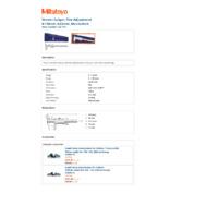 Mitutoyo Series 532 Vernier Thumbwheel Caliper (532-119) - Datasheet