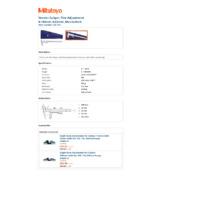 Mitutoyo Series 532 Vernier Thumbwheel Caliper (532-120) - Datasheet
