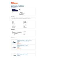 Mitutoyo Series 532 Vernier Thumbwheel Caliper (532-121) - Datasheet
