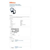Mitutoyo Series 7 Dial Indicator Thickness Gauge (7360) - Datasheet