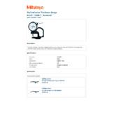 Mitutoyo Series 7 Dial Indicator Thickness Gauge (7326S) - Datasheet