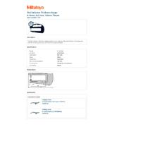 Mitutoyo Series 7 Dial Indicator Thickness Gauge (7321) - Datasheet