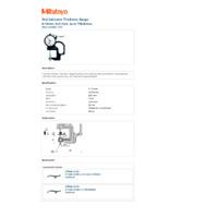 Mitutoyo Series 7 Dial Indicator Thickness Gauge (7313) - Datasheet