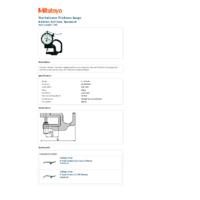 Mitutoyo Series 7 Dial Indicator Thickness Gauge (7305) - Datasheet