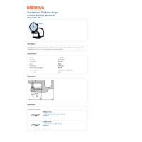 Mitutoyo Series 7 Dial Indicator Thickness Gauge (7301) - Datasheet