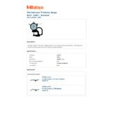 Mitutoyo Series 7 Dial Indicator Thickness Gauge (7300S) - Datasheet