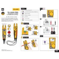 Fluke T6-1000 PRO Electrical Tester - Safety Sheet