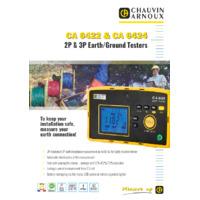 Chauvin Arnoux CA 6424 Earth & Ground Resistance Tester - Datasheet