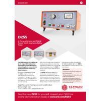 Seaward D255 Hire Tester - Datasheet