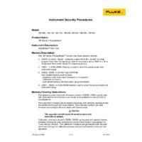 Fluke 190-Series ScopeMeters - Statement of Memory Volatility