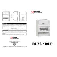 RDL RI-76-100-P Three Phase Direct Connection Meter Datasheet