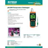 Extech SDL100 pH, ORP & Temperature Datalogger - Datasheet